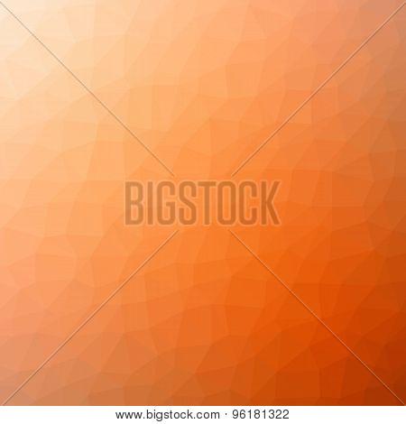 Orange Polygonal Mosaic Background, Vector Illustration, Creative Business Design Templates