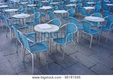 Metal tables and chairs