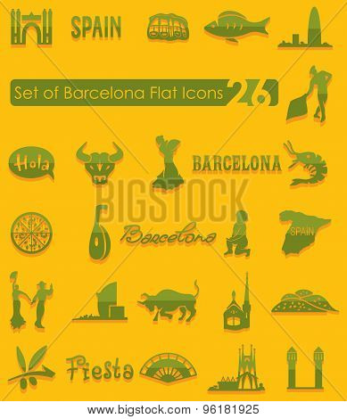 Set of Barcelona icons