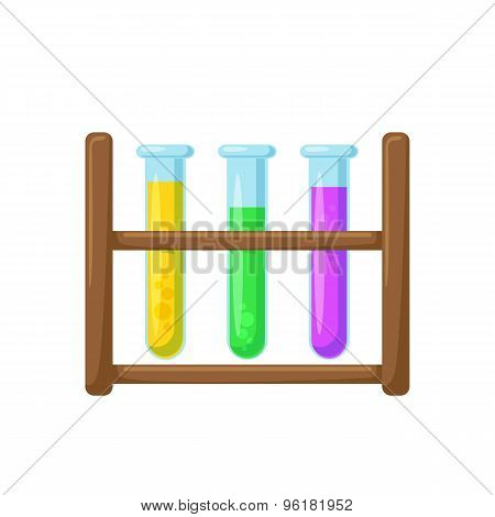 Test tubes on a stand.