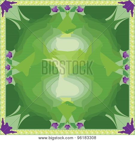 Green seamless pattern. Vector abstract background.