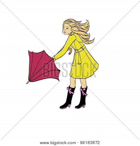 Girl With An Umbrella
