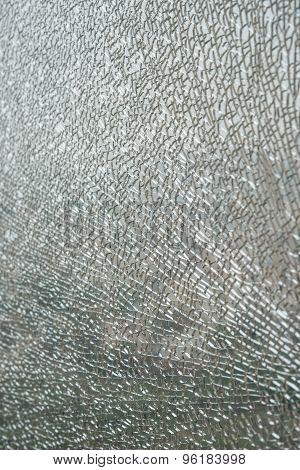 Pattern Of A Broken Glass Window Vertical
