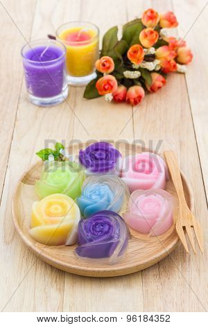 Colorful Of Thai Jelly Dessert.
