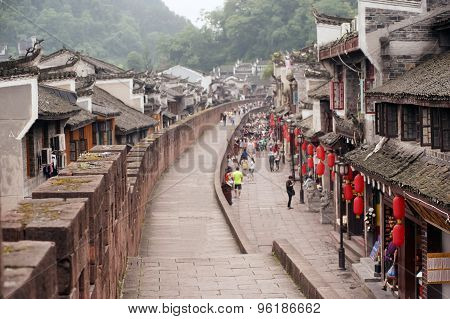 View on the wall Of Fenghuang Ancient City.