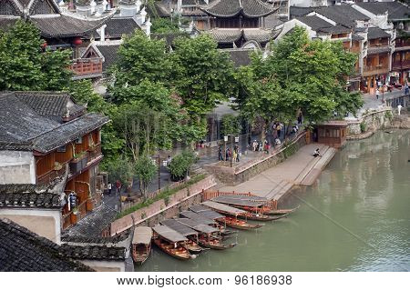 Top view Of Fenghuang Ancient City.