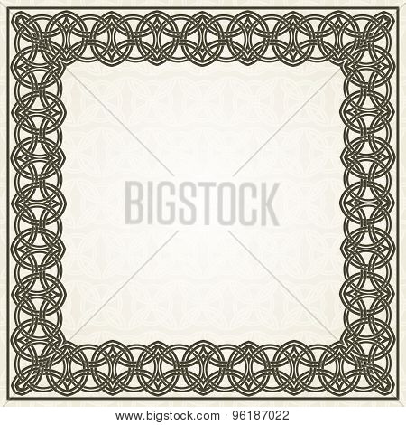 Square frame with celtic ornament