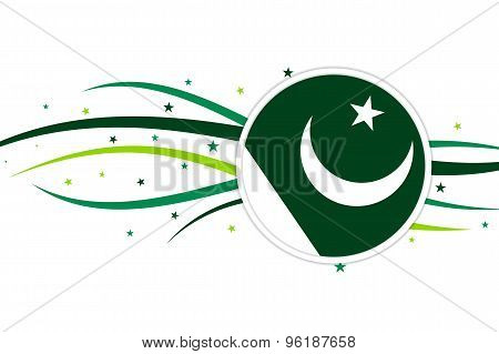 Pakistani flag banner design