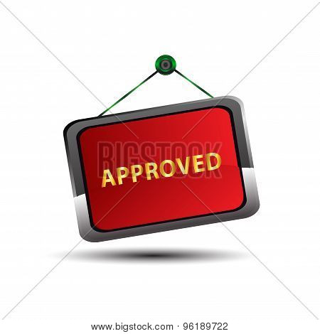 Approved icon symbol vector design illustration template
