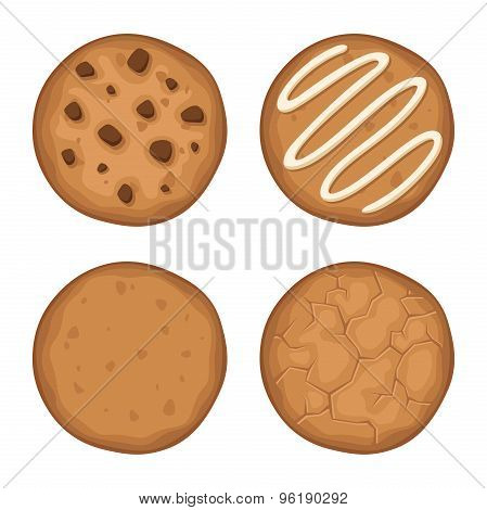 Set of cookies. Vector illustration.