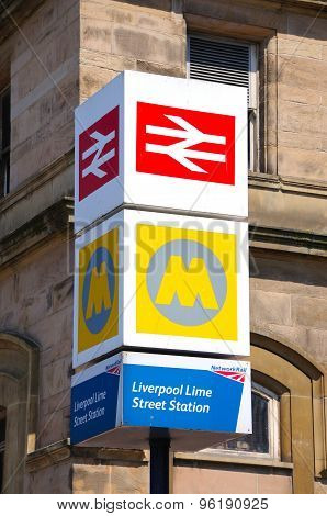 Lime Street Railway Station Sign.