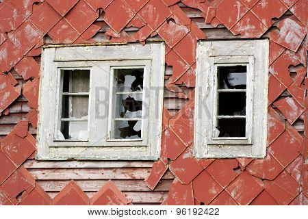 old windows without glass