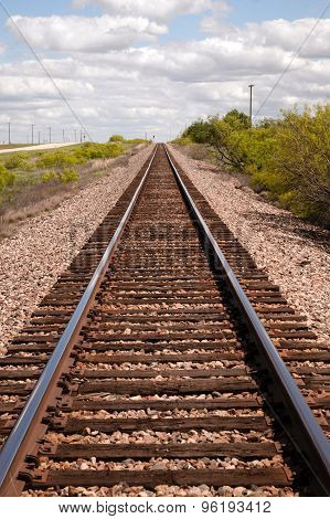 Railroad Tracks Locomotive Transport Line Texas Transportation