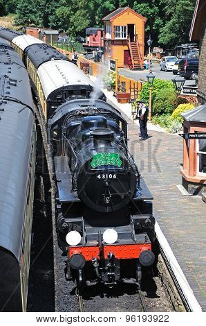 Steam train at Arley Station.