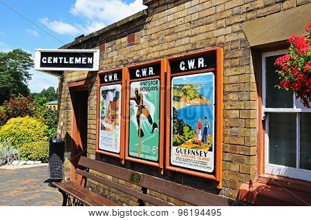 Retro posters at Arley Railway Station.