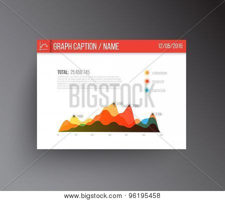 vector panel with flat design infographics statistics colorful graph template