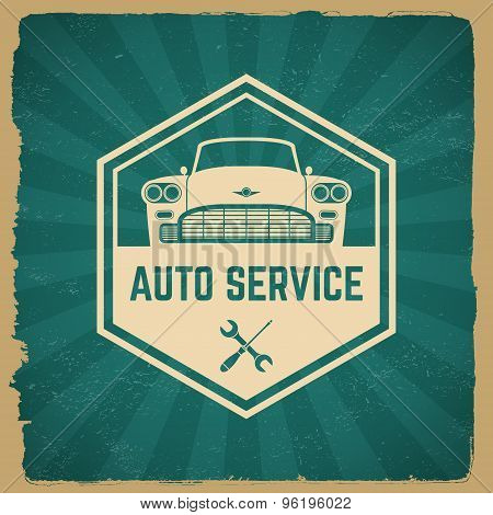 Car Repair Service Label