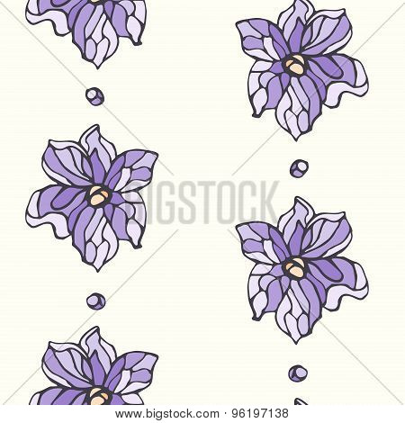 Seamless Pattern With Lavender Flowers