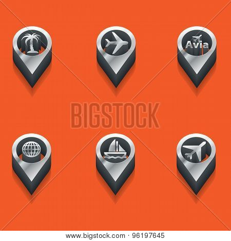 Tourist Icons In Isometric