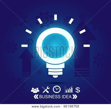 Neon business idea background