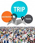 Trip Travel Destination Holiday Journey Concept poster