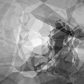 foto of grayscale  - Abstract background pattern in polygonal style and grayscale colors - JPG