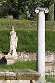 stock photo of isis  - Archaeological site of ancient Dion of Katerini city in north Greece Temple of Isis - JPG