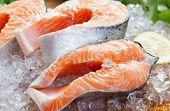 picture of salmon steak  - close - JPG