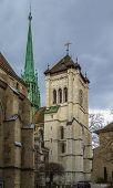 Постер, плакат: St Pierre Cathedral Geneva Swizerland