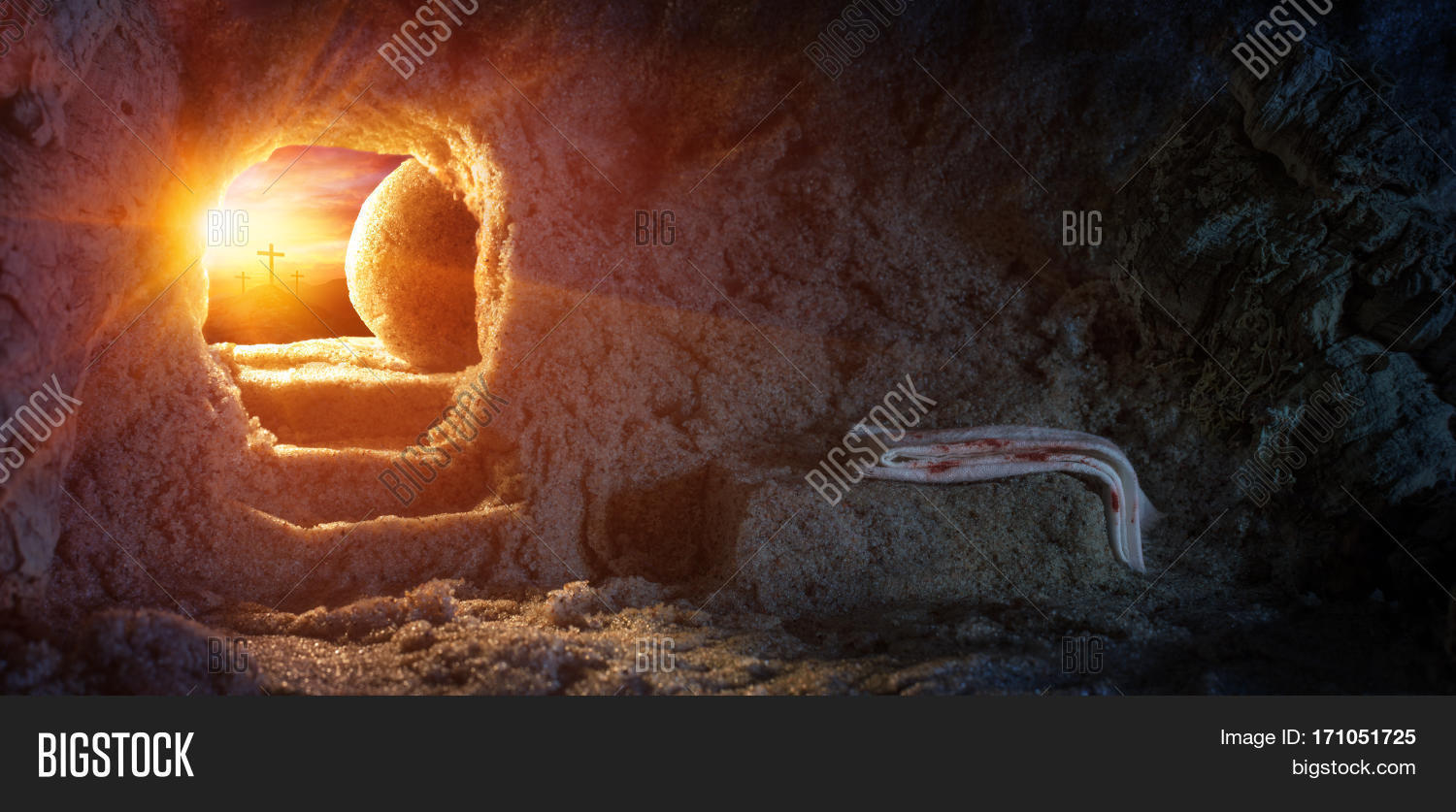 tomb empty shroud crucifixion image u0026 photo bigstock