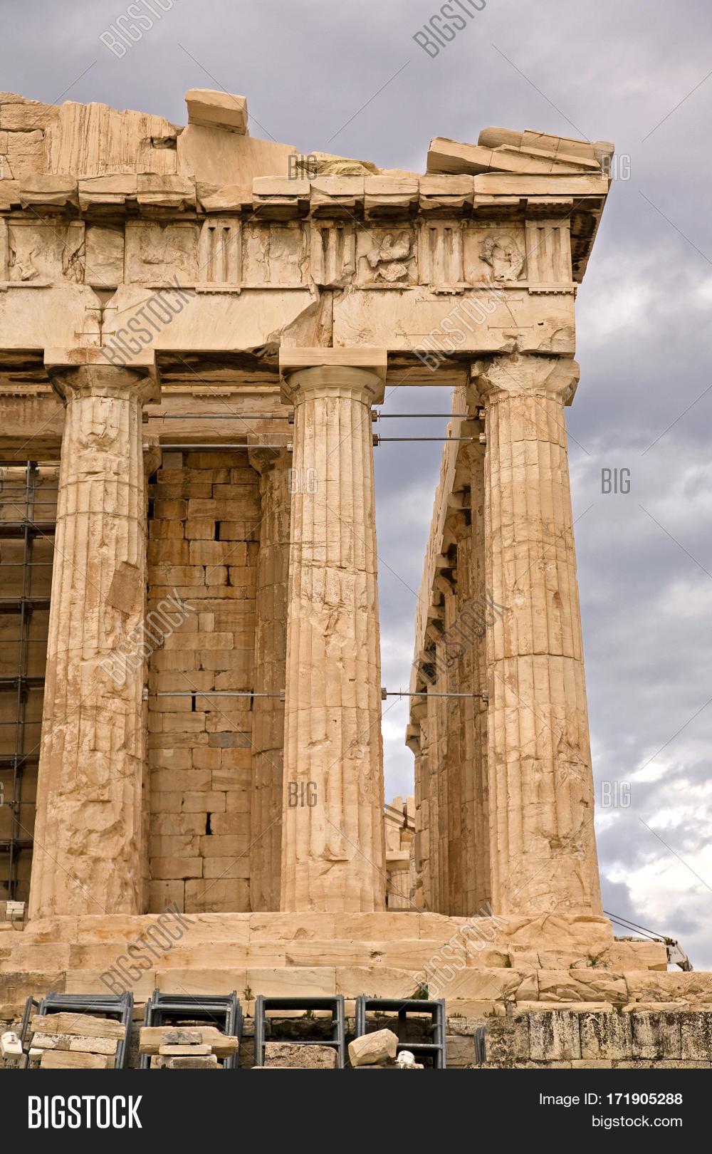 Temple Athena Parthenon. On Image & Photo | Bigstock