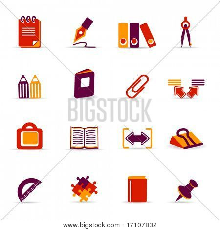 ícones de escritório