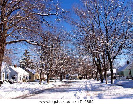 Snowy Neighborhood 2 Vertical