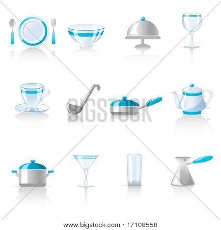 iconos de utensilio de cocina