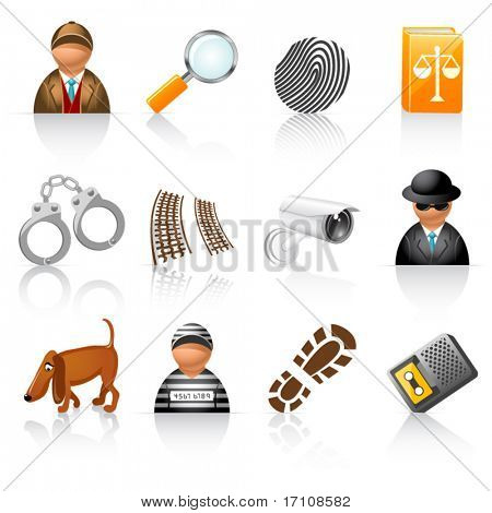 icon set for detective agency