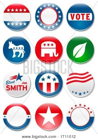 Election Campaign Buttons