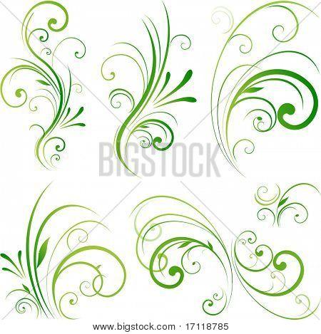Spring swirls motifs