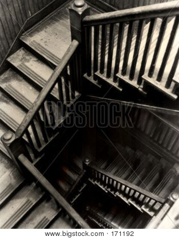 Back Stairs Decending