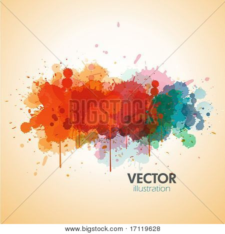Vector paint background design