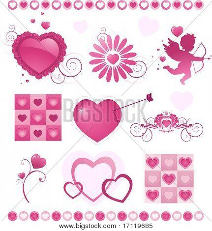 Valentine'es day icons set