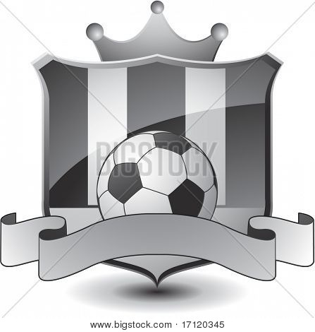 Soccer emblem with crown