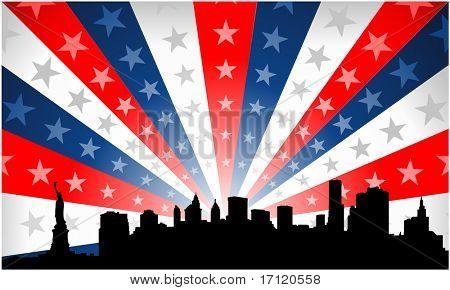 New York City patriotic background
