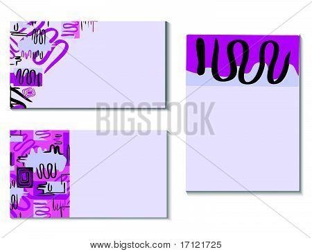 Vector business card set. Vector illustration