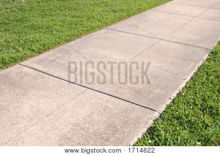 Sidewalk And Grass