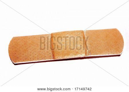 Bandaid on white