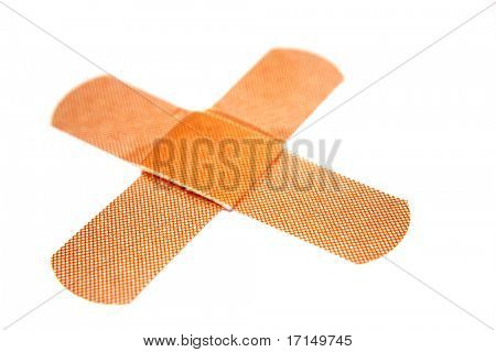 Bandaids on white