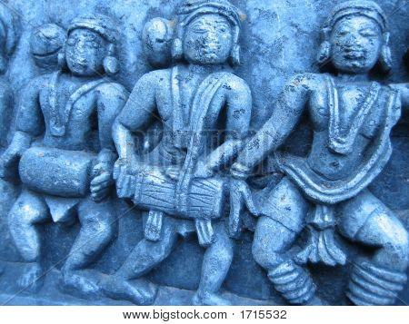 Indian Drummer Carvings