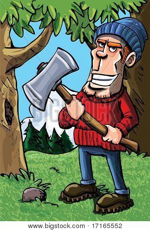 Cartoon Lumberjack