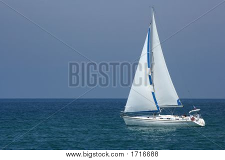 Yacht At Sea