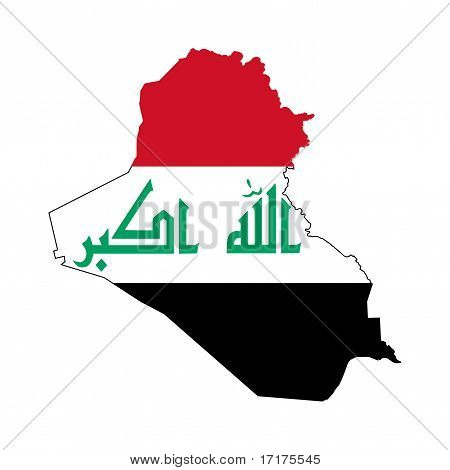 Irak-Flag auf Karte